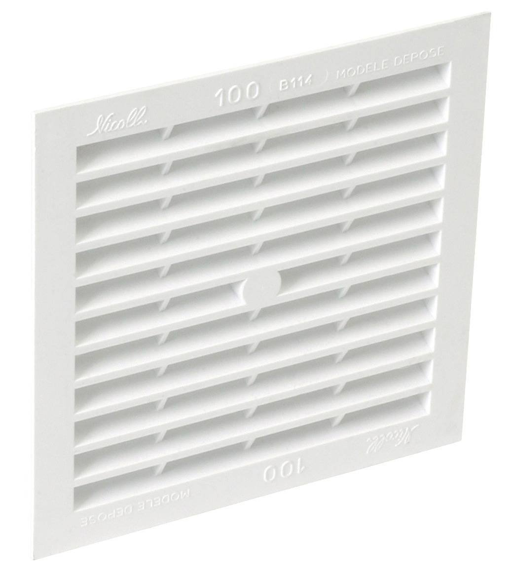 NICOLL Grille de ventilation en applique Type 100cm2 carrée 130x130 mm - NICOLL - 1B114