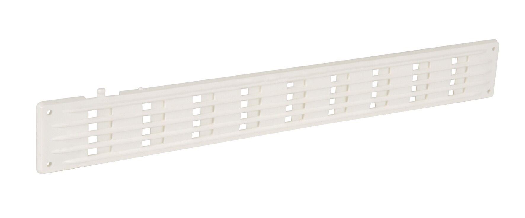 NICOLL Grille de ventilation en applique rectangulaire plate à fermeture 40x300mm - NICOLL - 1PF300