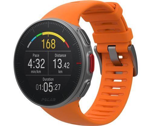 Polar Montre GPS Multisports Polar Vantage V Orange Taille M avec Capteur de fréquence cardiaque H10 - Montre connectée