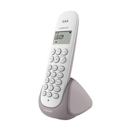 Logicom Téléphone sans fil Logicom Lina 150 Solo Taupe - Téléphone sans fil