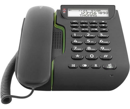 Doro Téléphone fixe filaire Doro Comfort 3005 Noir - Téléphone filaire