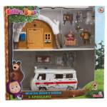 simba  Simba Coffret hutte d'hiver et ambulance Masha Simba - Accessoire... par LeGuide.com Publicité