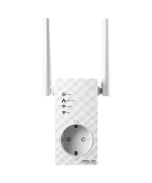 ASUS Répéteur Point d'accès Asus RP-AC53 Wi-Fi Double Bande AC750 avec Prise Gigogne - CPL