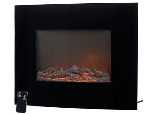 Carlo Milano Mini cheminée électrique murale 2000 W à radiateur soufflant - Chauffage et ventilation