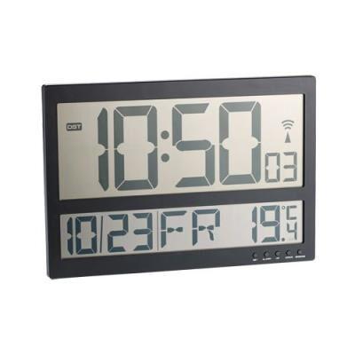 Infactory Horloge murale radio-pilotée avec thermomètre intérieur XXL - Décoration murale