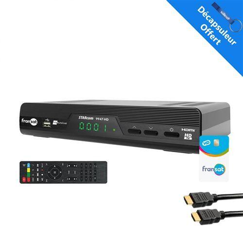 Non communiqué Starcom récepteur tv satellite hd + carte viacess fransat pc6 + cable hdmi - Adaptateur TNT