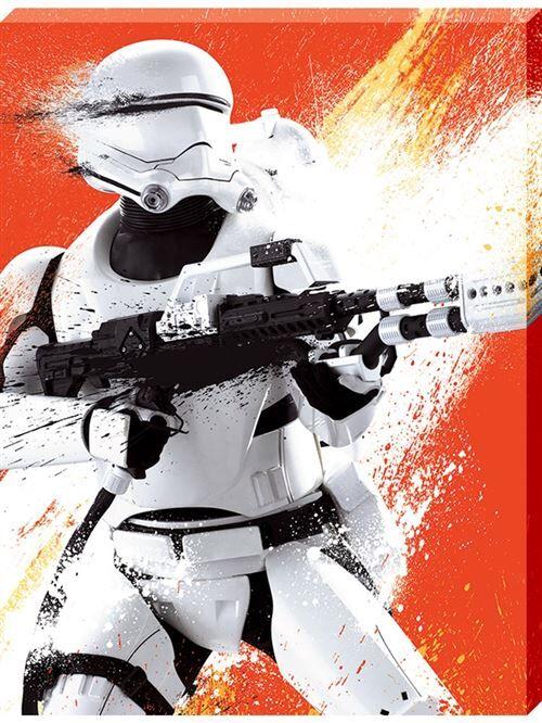 Star Wars imprimée Episode VII The Force Awakens Flametrooper Paint 60 x 80 x 3.8 cm - Décoration murale