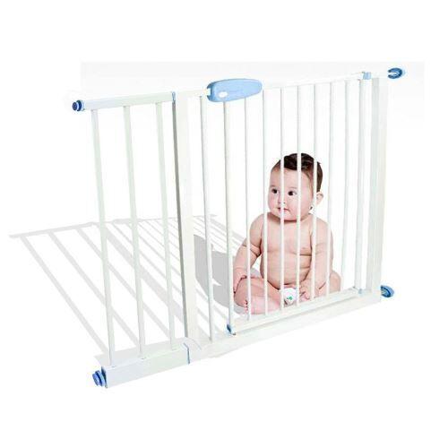 Todeco - Barrière de Sécurité pour Bébé, Barrière Ajustable pour Porte, 74 à 87cm, Blanc, Largeur: 74-87 cm - Barrières de protection