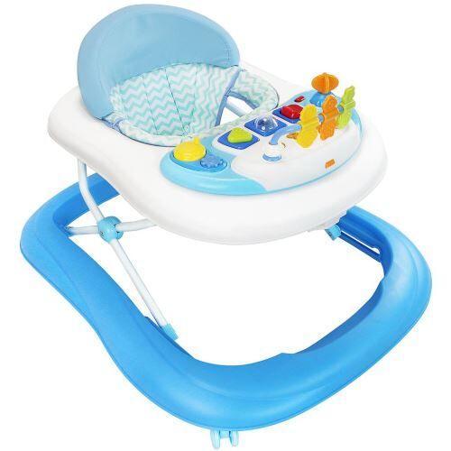 Todeco - Trotteur pour Bébés, Centre d'Activités pour bébés, Motif bleu avec les jouets, Tranche d'âge: 6 à 18 mois - Autres