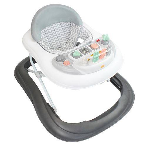 Todeco - Trotteur pour Bébés, Centre d'Activités pour bébés, Motif gris avec les jouets, Tranche d'âge: 6 à 18 mois - Trotteurs