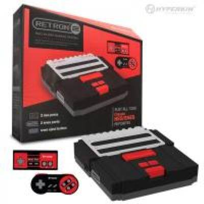 RETRON2 Noire pour Jeux NES/SNES AVEC Alimentaion Europe - Autres