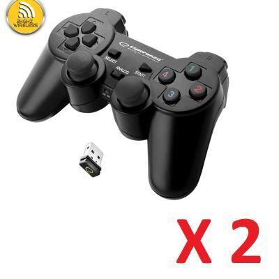 Marque : Straße Game ® 2 X Manette sans fil pour Sony Playstation 3 PS3 et PC - 2.4 Ghz - Straße Game ® - PlayStation 3
