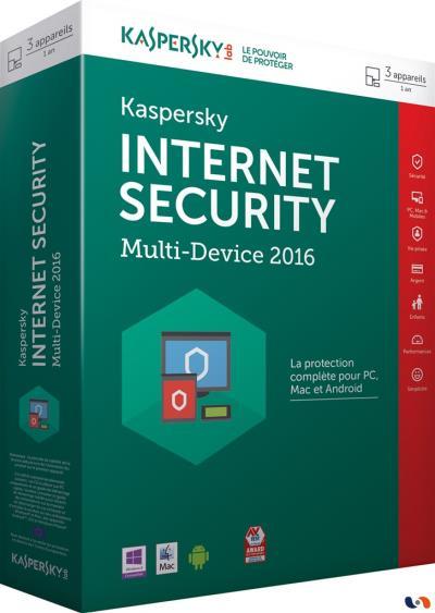 Kaspersky Internet Security 2016 Multi-Device 3 Postes 1 An - PC