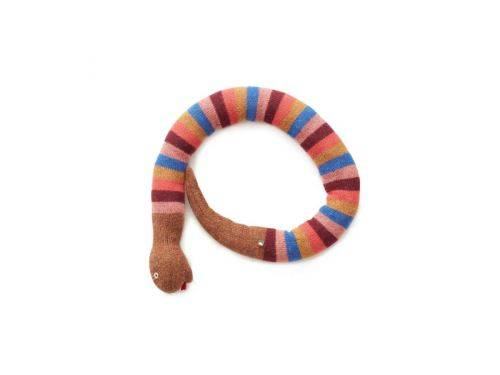 Oeuf Baby Clothes - Coussin serpent rayé multicolore alpaga - Coussins enfant