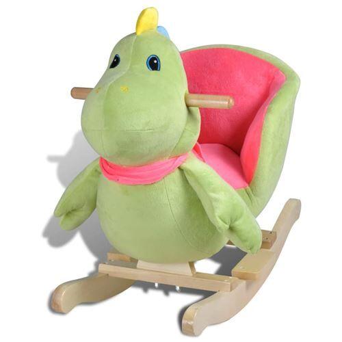 vidaXL Dinosaure à bascule pour bébés - Jouets à bascule en bois