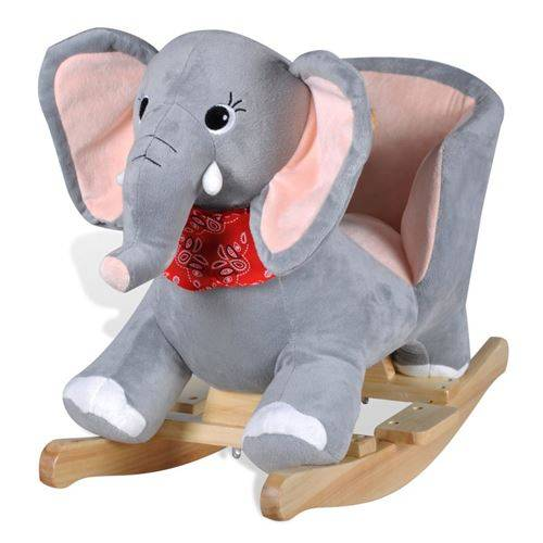 vidaXL Éléphant à bascule pour bébés - Jouets à bascule en bois