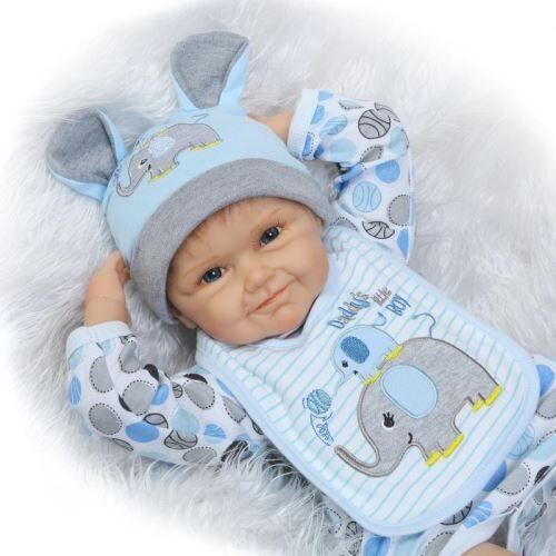 poupée bébé Reborn Silicone Real Doll Kids jouets filles Bebes De Silicona 55 cm - Poupée