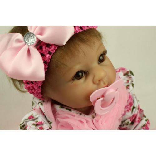 22 pouce 55 cm bébé reborn Silicone poupées réaliste poupée reborn bébés jouets - Poupée
