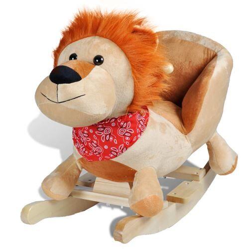 vidaXL Lion à bascule pour bébés - Jouets à bascule en bois