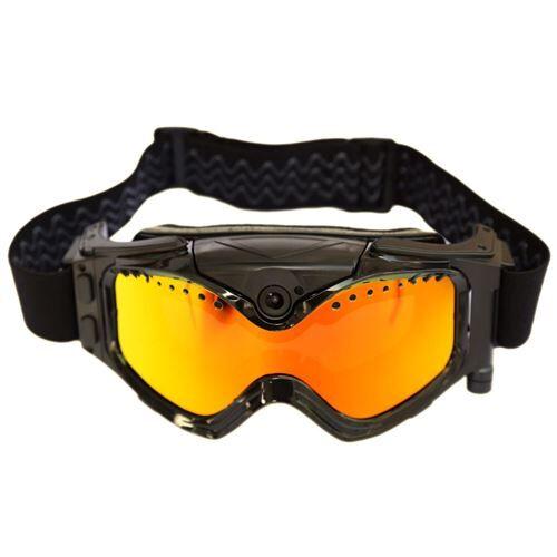 Yonis Lunettes caméra sport embarquée masque de ski HD 720P 8 Go Noir - Caméscope à carte mémoire