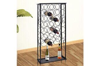 Vidaxl Casier à bouteilles pour 28 bouteilles métal