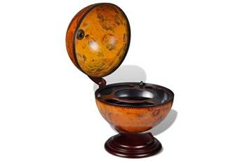 GENERIQUE Armoires et meubles de rangement collection buenos aires support de vin sous forme de globe bois