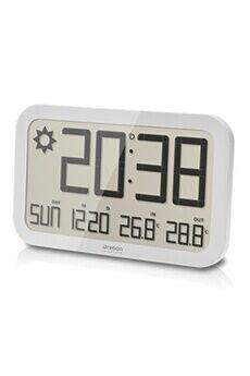 Oregon Scientific Horloge murale jumbo avec prévisions météo (blanc)