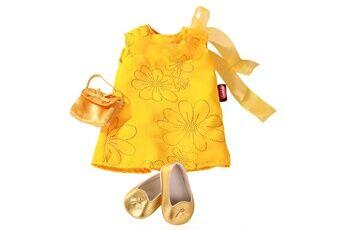 Gotz Vêtements pour poupée de 45 à 50 cm : Robe jaune avec chaussures
