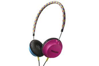 Philips casque shl5100 citiscape strada casque supra-auriculaire  écouteurs rose / bleu