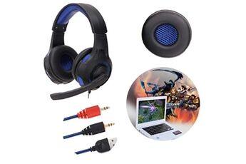 Generic Surround stéréo gaming headset headband headphone usb 3,5 mm avec micro pour pcgaming headset 263