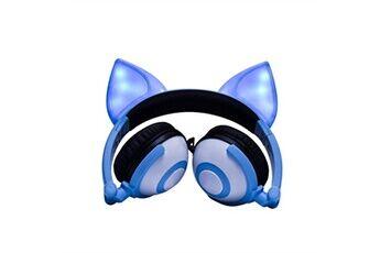 Generic Pliable clignotant lumineux fox oreille casque gaming casque led lumière écouteurgaming headset 225