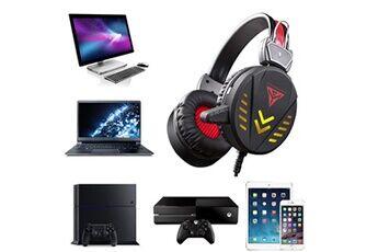 Generic A1 gaming headphones 3,5 mm usb filaire led lumière casque stéréo avec micro pour pcgaming headset 201