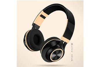 Generic Ecouteurs pliables sans fil bluetooth casque stéréo hi-fi avec carte micro sd / tfgaming headset 230