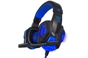 Generic Surround stéréo gaming headset headband headphone usb 3.5mm mic led pour pc bugaming headset 324
