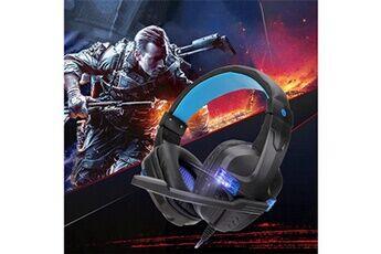 Generic Usb filaire led 3,5 mm casque de jeu casque avec micro pour téléphone portable pcgaming headset 239