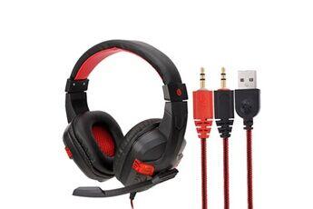 Generic Usb filaire led 3,5 mm casque de jeu casque avec micro pour téléphone portable pcgaming headset 240