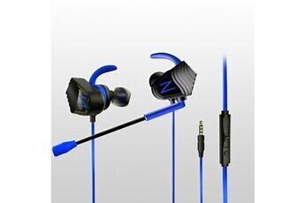 Generic Pilotes double écouteur basse sport 3.5mm casque stéréo avec micro earbudsgaming headset 101