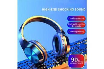 Generic Pliable sans fil bluetooth micro casque écouteurs stéréo casques d'écoute super bassgaming headset 72