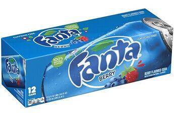 Fanta blueberry myrtille 35,5cl (pack de 12)