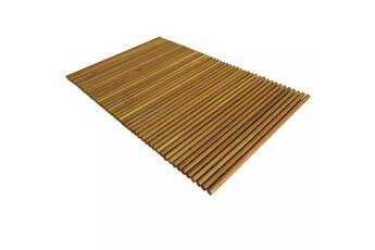 Vidaxl Tapis de salle de bain bois d'acacia 80 x 50 cm
