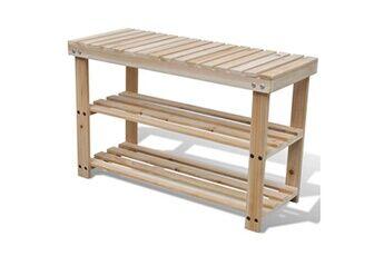 GENERIQUE Rangements pour armoires à vêtements categorie luanda etagère à chaussures 2 en 1 en bois banc de rangement