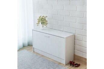 GENERIQUE Rangements pour armoires à vêtements famille bangkok banc à chaussures 80 x 24 x 45 cm blanc