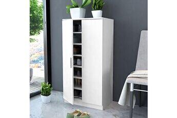 GENERIQUE Rangements pour armoires à vêtements categorie vatican meuble à chaussures 7 étagères blanc