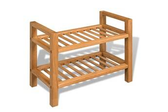 GENERIQUE Rangements pour armoires à vêtements serie damas étagère à chaussures avec 2 étagères chêne massif 49,5x27x40 cm