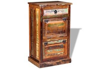 GENERIQUE Rangements pour armoires à vêtements gamme dacca armoire à chaussures 4 couches avec tiroir bois de récupération