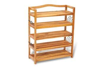 GENERIQUE Rangements pour armoires à vêtements collection banjul étagère à chaussures en bois 5 tablettes