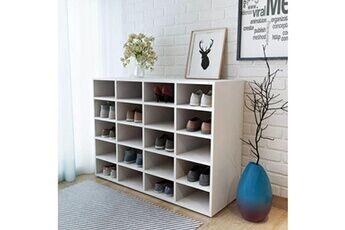 GENERIQUE Rangements pour armoires à vêtements edition londres étagère à chaussures aggloméré 92 x 33 x 67,5 cm blanc