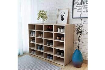 GENERIQUE Rangements pour armoires à vêtements collection bucarest étagère à chaussures aggloméré 92 x 33 x 67,5 cm chêne