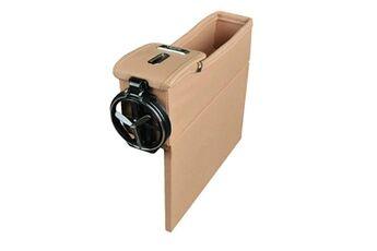 Generic Multi-fonctions boîte de rangement en cuir boîte change box car seat slit boîte de rangement 1491