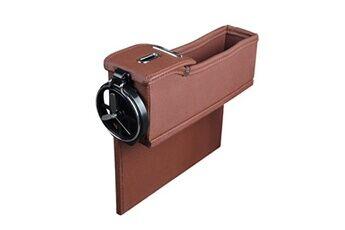 Generic Multi-fonctions boîte de rangement en cuir boîte change box car seat slit boîte de rangement 1492